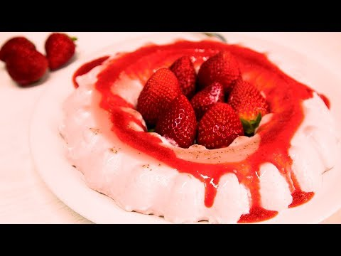 Panna Cotta de fresa. Strawberry Panna Cotta Recipe