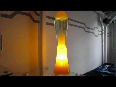 Lava Lamps Part 7: Mathmos Fluidium Yellow at Daytime
