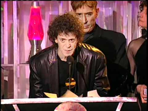 Velvet Underground accept award Rock and Roll Hall of Fame Inductions 1996.mp4