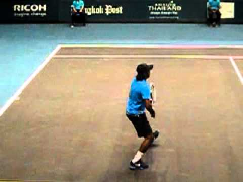Leander Paes Forehand Return and Net Rush