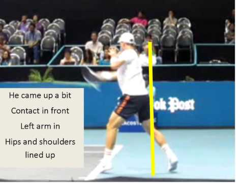 How to Hit Your Forehand Harder--Stay LOW like Berdych