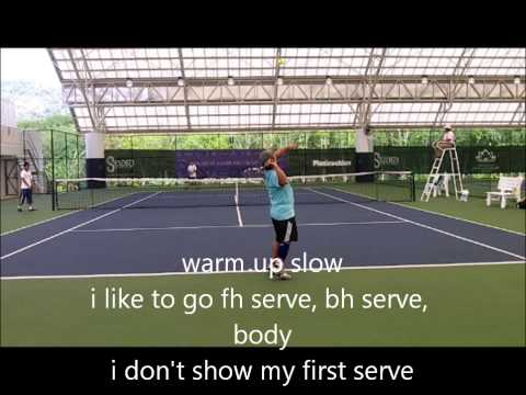 How to Win Tennis Tournaments:  Preparation and Warm Ups