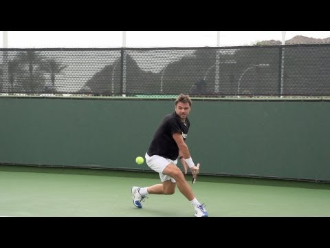 Stanislas Wawrinka Backhand In Super Slow Motion - Indian Wells 2013 - BNP Paribas Open