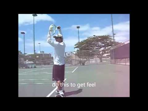 How to Kick Serve:  Step two