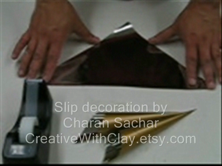 Slip decoration tool and technique