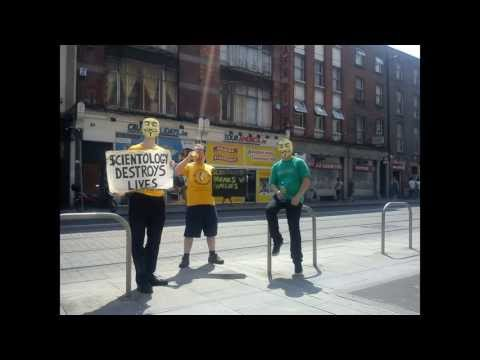 July 2013 Dublin Anti-Scientology protest