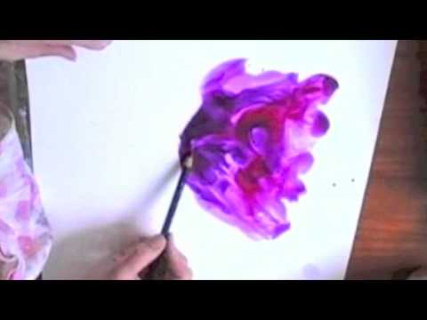 poppy watercolour painting demo