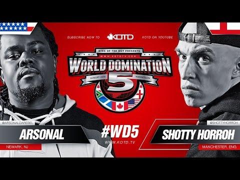 KOTD - Rap Battle - Shotty Horroh vs Arsonal II | #WD5