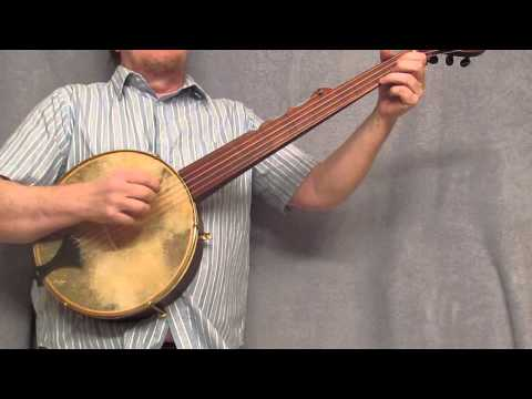 Minstrel Banjo - antique mahogany color Glendy Burke, Alabama Joe, Camptown Races