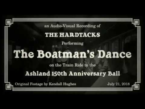 The Hardtacks on the train ride to the Ashland NH 150th Anniversary Ball