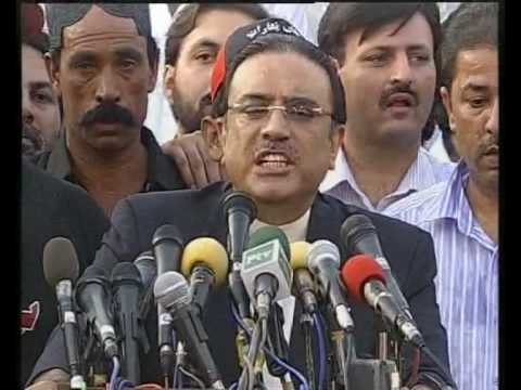 Zardari Saying Shut Up