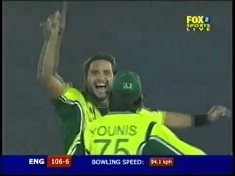 Shahid Afridi's amazing bowling spell against England 2005   YouTube