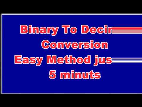 Binary to Decimal Number Conversion