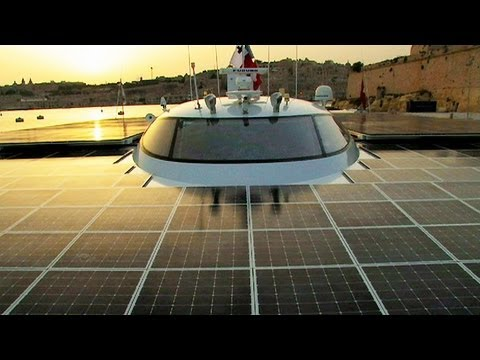 Solar Ship Sails Around the World!