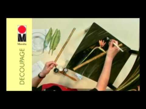 Marabu Decoupage - how to decoupage a chair how to decoupage, house beautiful