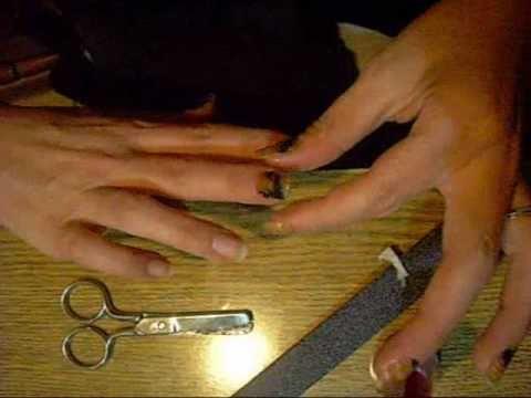 Unghie (Nail art) tecnica decoupage  ^ _ ^