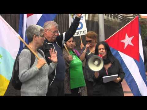 Concentración de la Plataforma Canaria de Solidaridad con los Pueblos