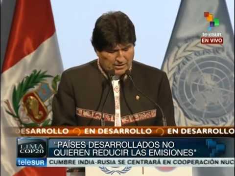COP 20: Evo Morales pide a países no mentir y hacer algo por el clima