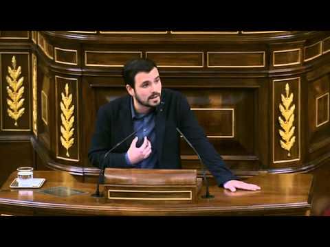 Intervención y replica de Alberto Garzón en el debate de investidura