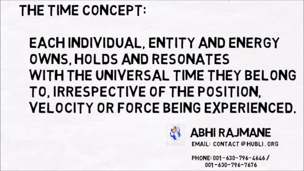 THE CONCEPT OF TIME. CORRECTION Mr.EINSTEIN.