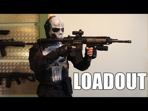[Airsoft loadout] The Punisher - HK 416 VFC, Marui MEU SOC, Glock 17 KWA
