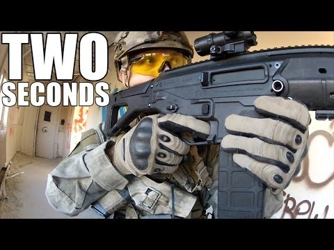 [Airsoft war] 2 seconds - Front face view airsoft video