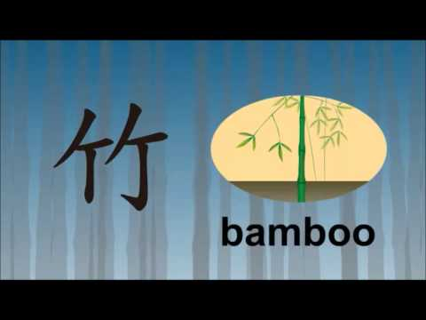 Chinese character for bamboo