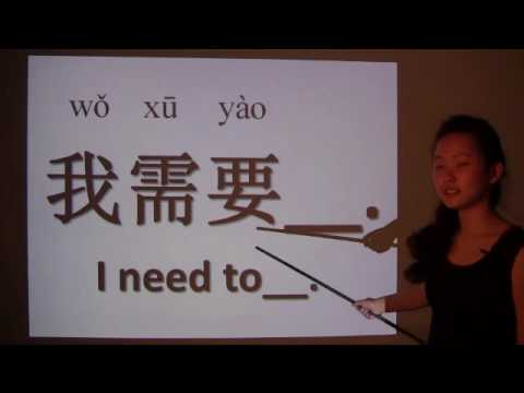 How to use want and need in Chinese - lesson