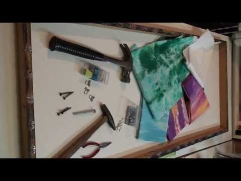 Homemade Frame for Hand Painting Fabric