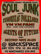 PORTLAND FAMILY REUNION: SOUL JUNK, YMYM FAMILY, INSOMNIAC FOLKLORE, DESTROY NATE ALLEN and AGENTS OF FUTURE