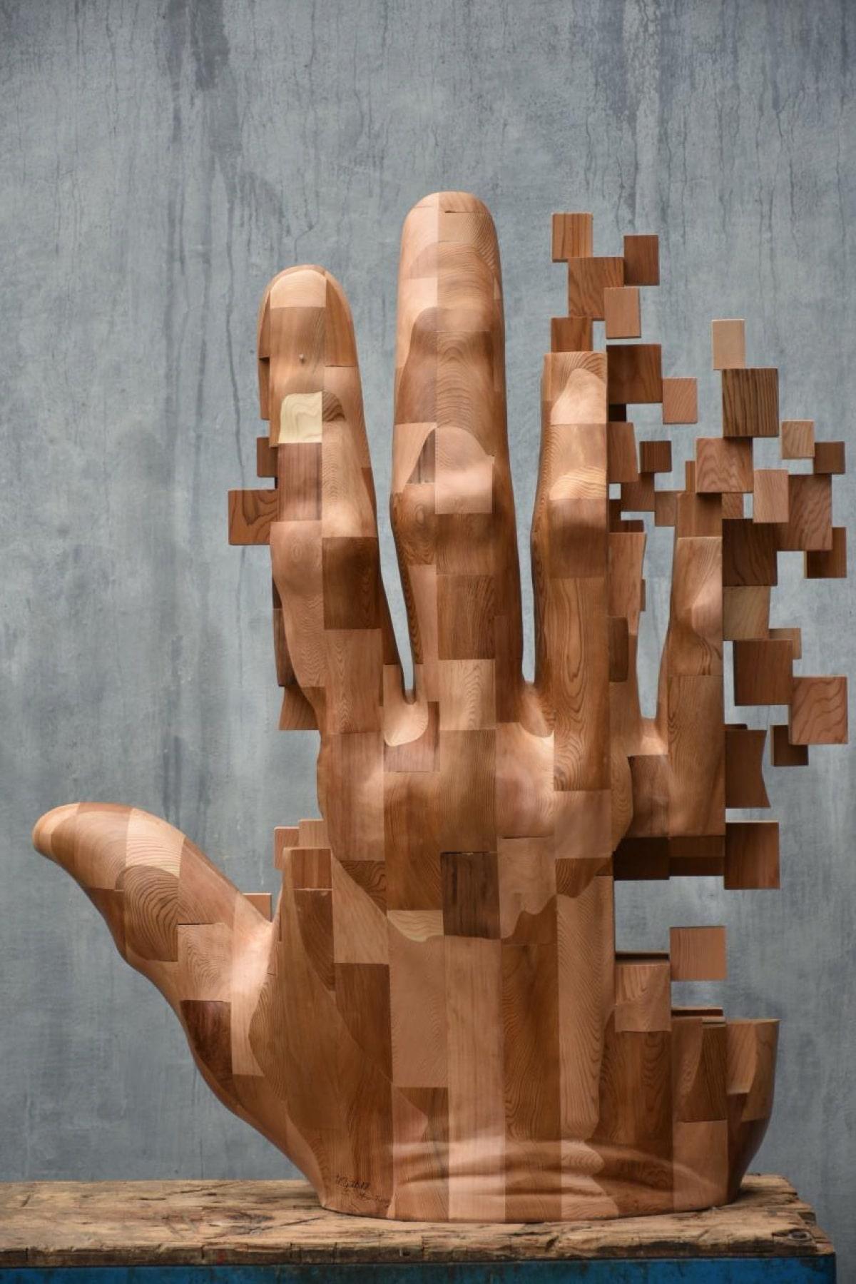ფიქსელი, პიქსელი, სკულპტურა, ბლოგი, არტი, ხელოვნება, Qwelly, art, sculpture