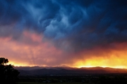 Stormy summer sunset over Mt. Meeker