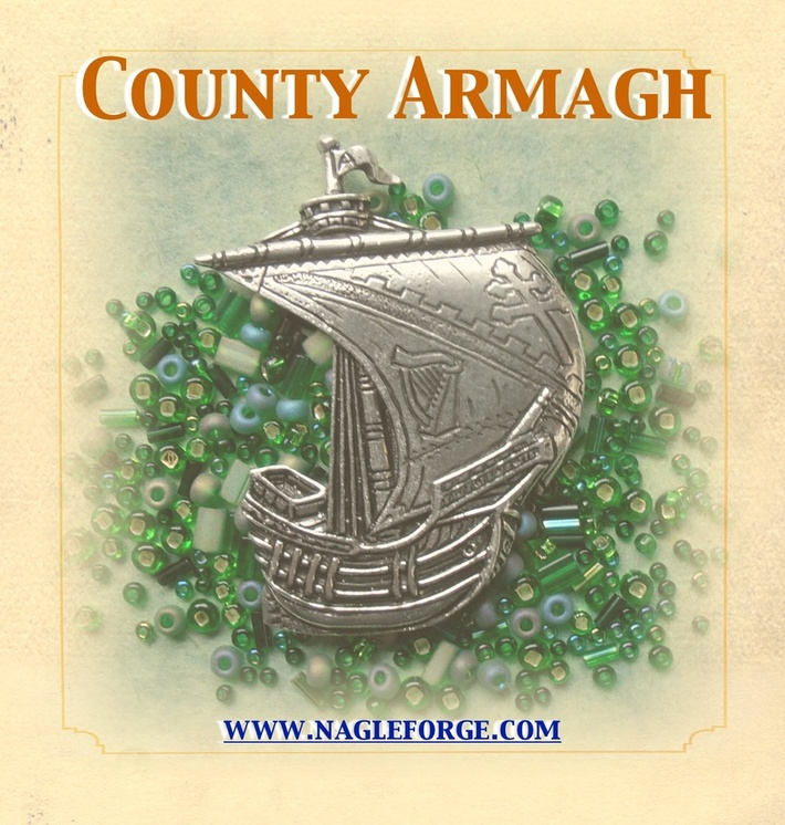 County Armagh inspired Pewter Ship Brooch