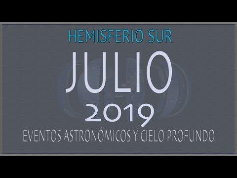 EL CIELO DE JULIO 2019. HEMISFERIO SUR
