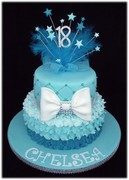 TEAL OMBRE RUFFLES & BOW