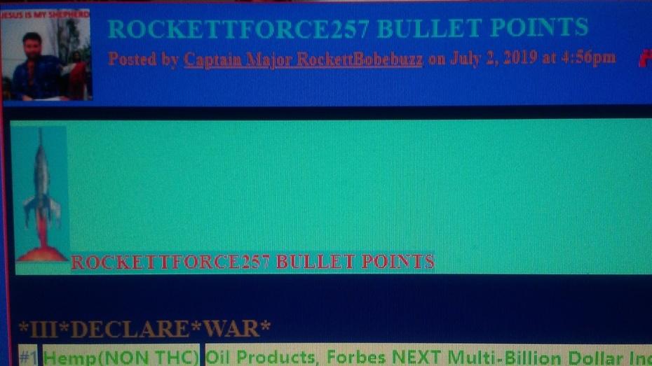 ROCKETTFORCE257 BULLET POINTS PHOTO