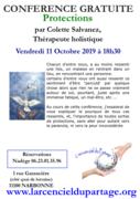 Conférence gratuite Les protections par Colette Salvanez