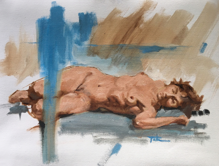 Figure Study - Reclining Female