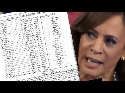 DOH! LIST of KAMALA HARRIS' Family's Slaves RELEASED!