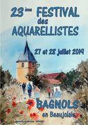 27-28 juli, Festival des Aquarellistes de Bagnols