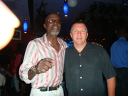 Mark Tewart with Jazz Great TS Monk at the Iridium Club in New York City