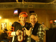 Me and Andy at Paradise Trailer Park Resort on Monday at 430am  in Nashville - nobody is feelin much pain in this pic - lol