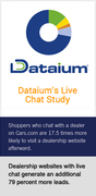 New Dataium, Cars.com Live Chat Study