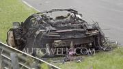 NSX prototype burnt to crisp at Nurburgring