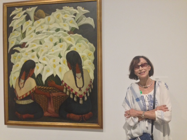 With a Frida Kahlo painting at the Heard Museum