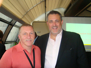 "Mark Tewart with Jeffrey Hayzlett, the VP of Kodak Marketing and author of the ""The Mirroe Test"""