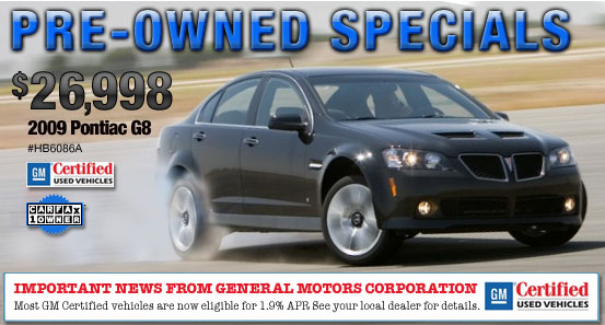 Pre-Owned Special