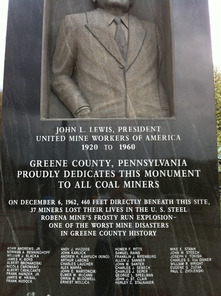 Coal Miner Monument at I-79 Welcome Center Entering Pennsylvania from West Virginia