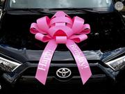 pink bday bow