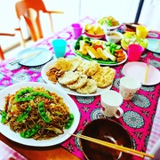 Vegan indonesian dishes party